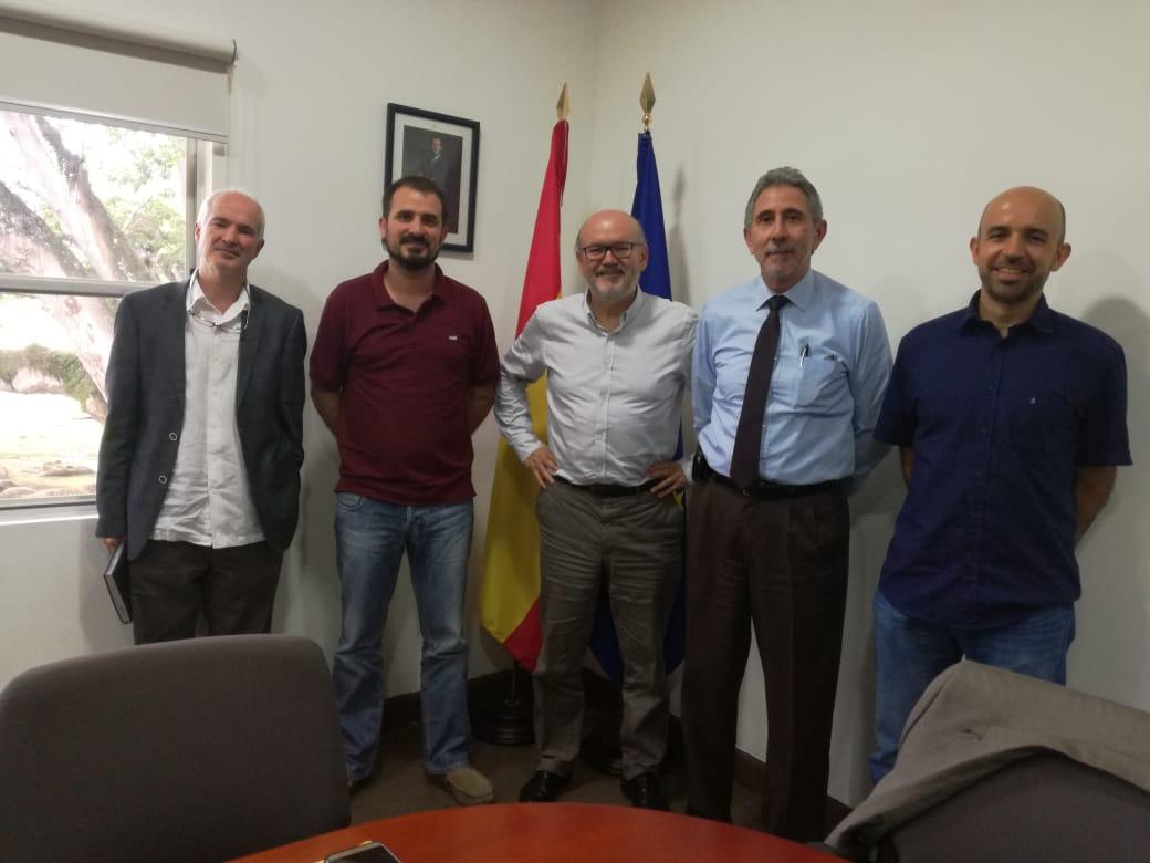 Visita de D. FERNANDO J. – ONTIVEROS, jefe del DEPTO. de Cooperación financiera – FONPRODE